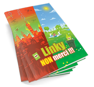 Linky non merci - pile de brochures
