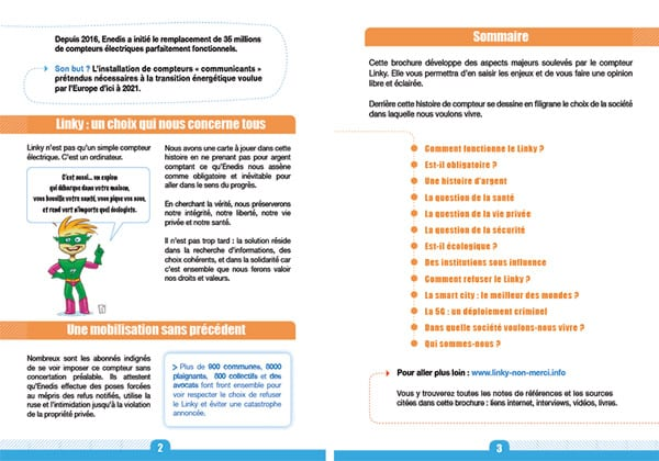 brochure Linky Non Merci - pages 2 et 3